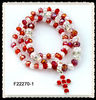 3rows glass bead stretch bracelet F22270-1