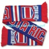 jacquard football fan scarf
