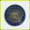 With an eagle's challenge coin