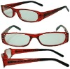plastic reading glasses with SPRING
