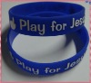 beautiful blue silicone wristband