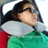 PVC flocked neck pillow