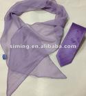 Custom Necktie And Polyester Scarf Set
