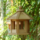 Natural solid wood bird feeder 2012