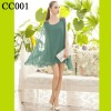 CC001 Women Green Chiffon Casual Drss For Ladies 2012