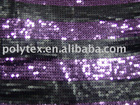 PTE-0043 poly mesh sequins embroidery fabric