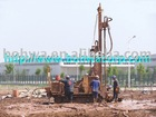 High Speed DTH Geothermal Drill Rig on crawler base