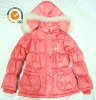 Children clothing padded winter jacket for girls 7-10 years old