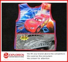 Full colors design Plastic kids Bib Apron printed car