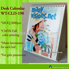2013 paper desk calendar with professional printing WT-CLD-190