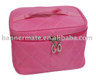 Quilted 190D nylon cosmetic bag
