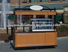 mobile outdoor hot dog cart kisok design approved by ISO9001