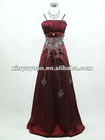Hot Sale Wine Red A-line Sleeveless Taffeta Appliqued Bridesmaid/Birthday Party Dress XYY-wy13