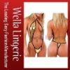 Very Sexy and Hot Selling Metallic BrazilianFashion Wrap Bikinis