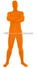 orange lyacra full body suit
