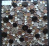 glass mosaic/glass mix with stone-like ceramic