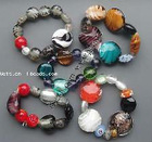 Lampwork Bracelets, Mixed style, 7-28mm, Length:6.3-7.8 Inch, Sold by Group