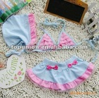 pink/light blue Swimming suit With swim Hat