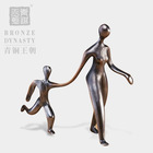 Bronze woman statue modern metal art sculptures