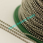 1.5mm Faceted Nickel Plated Steel Bead Chain