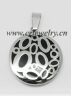 Stainless Steel Epoxy Pendants