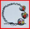 colorful handmade Stainless Steel Murano Bracelet