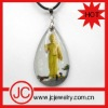 jade budda glass jewelry pendant