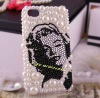 sexy Marilyn Monroe bling phone case for iphone 4/4s diamond mobile phone housing for iphone 4g phone back cover 308