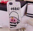cute cartoon pig bling cell phone case for iphone 4/4s diamond cell phone case for iphone 4g mobile phone accessories 307