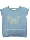 2011 fashion kids short sleeve rhinestone cotton pullover