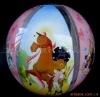 cartoon inflatable beach ball
