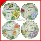 Home garden cement round decorative stepping stone