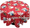 100% Polyester Printed Tablecloths-X'mas(home textile)