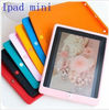 New coming colorful silicone skin case cover with home button for ipad4(ipad mini)