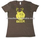 Womens brown beer t-shirt
