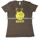 Womens brown beer t-shirt