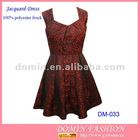 Ladies' Jacquard Dress;Skater Dress,Christmas Dress Pleated details