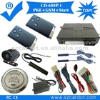 The Hot Selling GPS car alarm with PKE function,moble start,remote start,push button start modes,programmable key