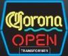 Corona OPEN neon sign