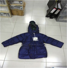 Wholesale & Retail Boys Belt Hooded Long Goose Down Coat/Jacket