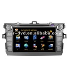 TOYOTA new corolla 8 inch touch screen car navigation gps tracker dvd music player with Digital TV