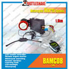 Waterproof two way motorcycle alarm system with remote engine start