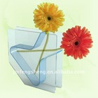 Sqaure shape colorful Acrylic flower Vase