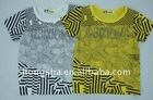 100%cotton boys printed t shirt top quality E68008 in stock