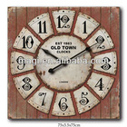 Shabby London Decorative Wooden Clock