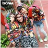 New Autumn clothes---Fashion Korean version Milk sister personal Floral long sleeve sweater for Mother and son 4726