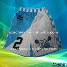 sublimated printed lacrosse shorts with polyester