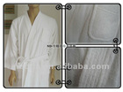 newest white 100% cotton XL size terry bathrobe