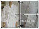 newest white 100% cotton XL size terry bathrobe