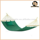 Fashional style folding outdoor camping cotton hammock with pillow